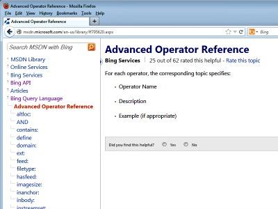 Advanced Search Operators
